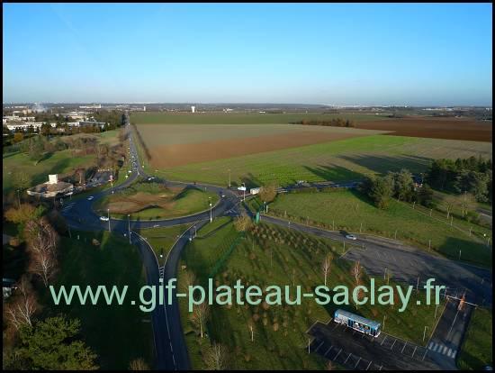 D306 plateau de Saclay travaux