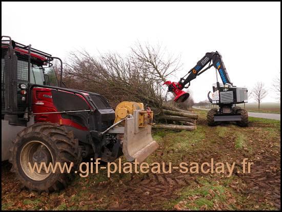 travaux élagage  D306 machines plateau de  saclay