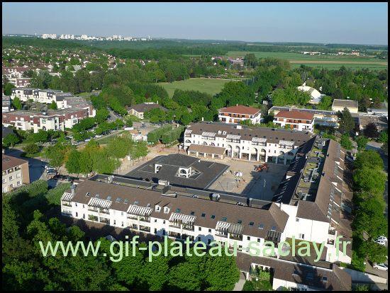 vue aérienne du marché dans la ville