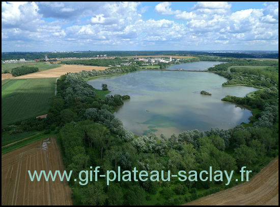 Photo aerienne des étangs de Saclay