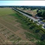 Photo aérienne travaux plateau de Saclay