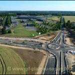 Photo aérienne des travaux à côte du Golf de St Aubin et Soleil