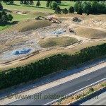 Photo aérienne des travaux du Golf de St Aubin